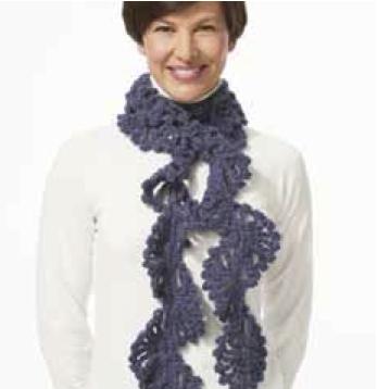 Bufandas para niña tejidas a gancho