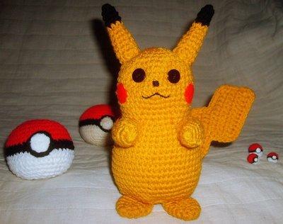 Peluche Pikachu en Crochet