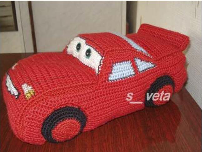 Nuestro coche de crochet quedará algo parecido a esto otro:
