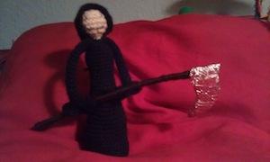 Patrón libre original – Parca Halloween a crochet