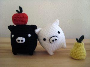 Monokuro Boo!! Cerdito amigurumi a crochet. Hasta el Monyo