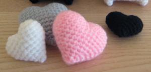 Patron corazones a crochet