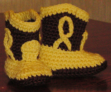 Botas de Cowboy para bebés – Patrón Crochet