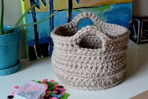 patrón de la cesta a crochet