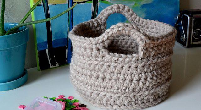 Un cesta fornida – Un patrón de crochet