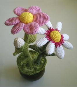 Flores a crochet, patrón