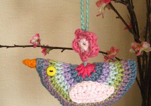 Decoración con pájaros – Pajaros a crochet