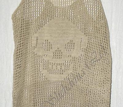 Camiseta: la calavera sonriente – Patrón a crochet