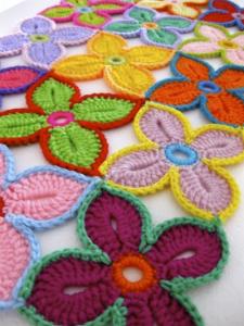 Patron flores hawaianas a crochet