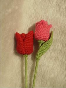 Patron tulipan a crochet