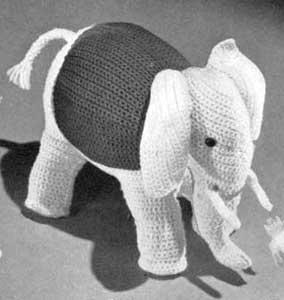 Elefante Vintage! Patrón a crochet