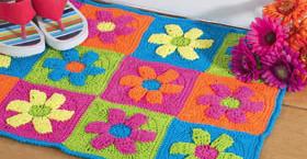 Alfombra de flores a crochet