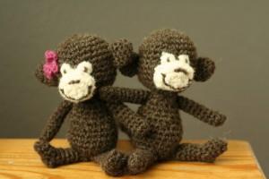 Patrón de los monos a crochet