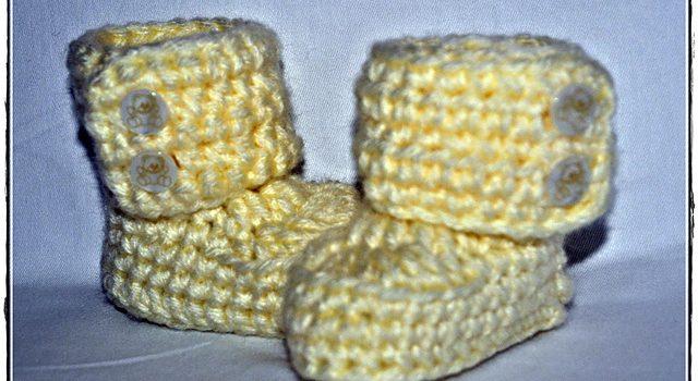 Botitas estilo Ugg – Patrón a crochet para bebés