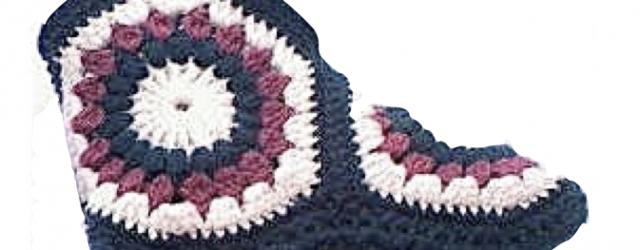 Botas con hexágonos – Patrón a crochet