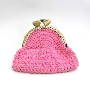 Monedero Rosa Personalizable Patron A Crochet Hasta El Monyo - Monedero-crochet-patron