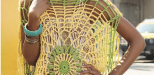 Poncho Trippy – Patrón a crochet
