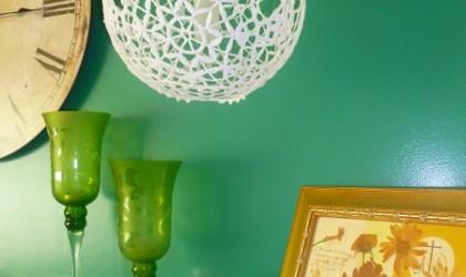 Patrón lámpara de encaje japonés