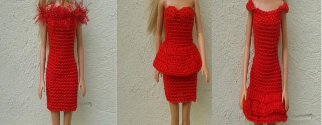 Hola ganchiller@s!! Con el inicio de año, Barbie se nos pone elegante con estos vestidos...