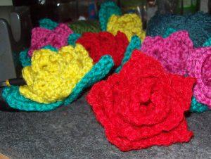 Rosas con hojas