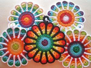 Patrón flores manopla